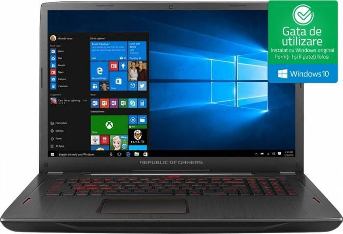 pret preturi Laptop Gaming Asus ROG Strix GL702ZC AMD Ryzen 7 1700 1TB 8GB AMD Radeon RX580 4GB Win10 FullHD