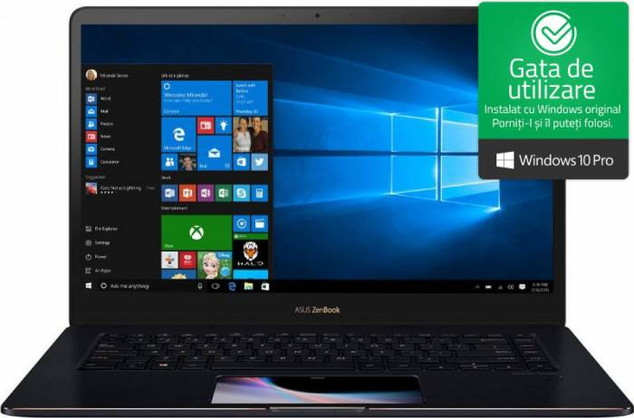 imagine 0 Ultrabook Asus Zenbook Pro 15 Intel Core Coffee Lake (8th Gen) i7-8750H 512GB 16GB GTX 1050 Ti 4GB Win10 Pro FullHD ux580ge-bn020r