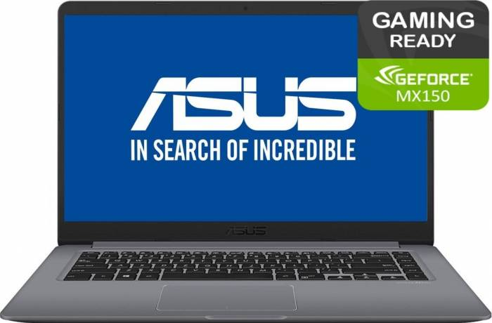 imagine 0 Ultrabook Asus Vivobook S15 Intel Core Kaby Lake R (8th Gen) i7-8550U 1TB HDD+128GB SSD 8GB nVidia MX150 2GB FullHD s510un-bq135