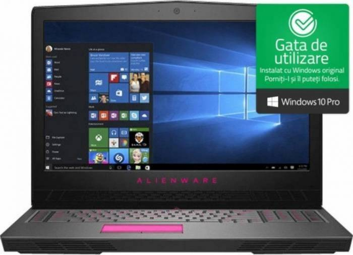 imagine 0 Laptop Gaming Dell Alienware 17 R5 Intel Core Coffee Lake (8th Gen) i7-8750H 1TB+256GB SSD 16GB nVidia GeForce GTX 1060 6GB Win10 Pro FullHD awr5i71625611060ws