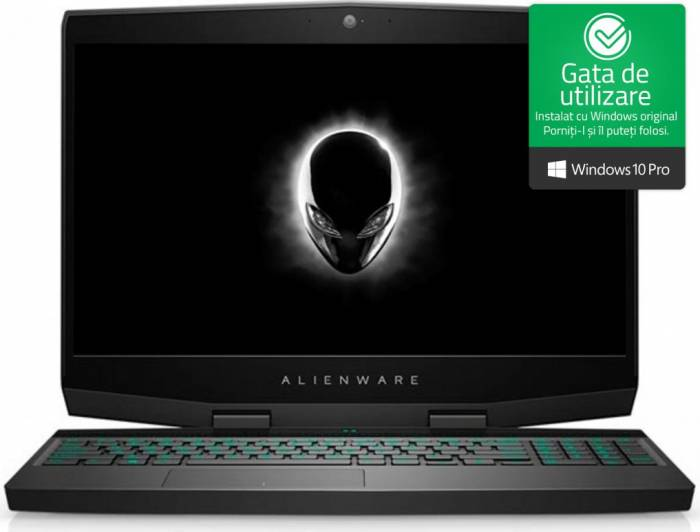 imagine 0 Laptop Gaming Dell Alienware M15 Intel Core Coffee Lake (8th Gen) i7-8750H 1TB+512GB SSD 16GB nVidia GeForce GTX 1070 8GB Win10 Pro FullHD awm15i71651211070w