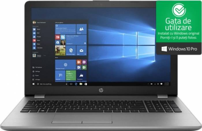 imagine 0 Laptop HP 250 G6 Intel Core Skylake i3-6006U 256GB SSD 8GB Win10 Pro FullHD 1wy57ea