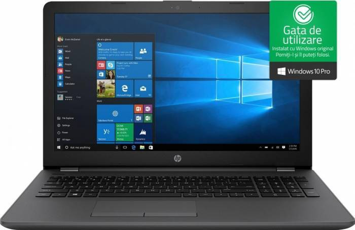 imagine 0 Laptop HP 250 G6 Intel Core Kaby Lake i5-7200U 256GB SSD 8GB AMD Radeon 520 2GB Win10 Pro FullHD Dark Ash Silver 2rr67ea