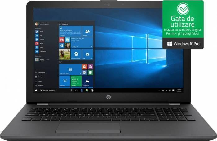 imagine 0 Laptop HP 250 G6 Intel Core Kaby Lake i5-7200U 500GB 4GB Win10 Pro HD 1WY16EA