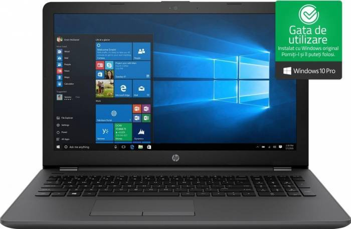 imagine 0 Laptop HP 250 G6 Intel Core Kaby Lake i7-7500U 256GB 8GB Win10 Pro FullHD 2ev90es
