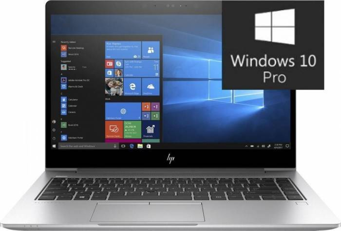 imagine 0 Ultrabook HP EliteBook 840 G5 Intel Core Kaby Lake R (8th Gen) i7-8550U 256GB SSD 8GB Win10 Pro FullHD FPR Silver 3up11ea