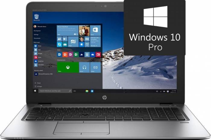 imagine 0 Laptop Hp EliteBook 850 G3 Intel Core Skylake i7-6500U 256GB 8GB Win10 Pro FullHD HPY3B77EA