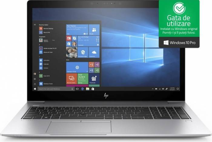 imagine 0 Laptop HP EliteBook 850 G5 Intel Core Kaby Lake R (8th Gen) i7-8550U 256GB SSD 8GB Win10 Pro FullHD Tastatura iluminata 3jy01ea