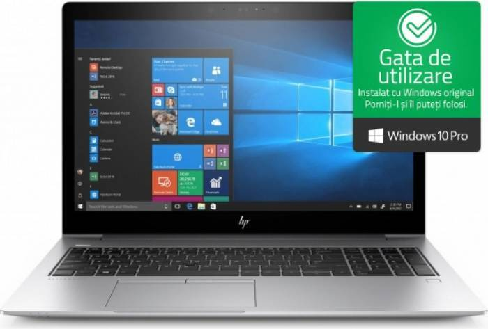 imagine 0 Laptop HP EliteBook 850 G5 Intel Core Kaby Lake R (8th Gen) i7-8550U 256GB SSD 16GB Win10 Pro FullHD Tastatura ilum. FPR 3up21ea