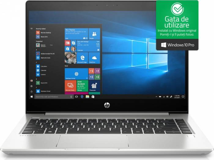 imagine 0 Laptop HP ProBook 440 G6 Intel Core Whiskey Lake (8th Gen) i5-8265U 256GB SSD 8GB Win10 Pro FullHD FPR 5PQ07EA