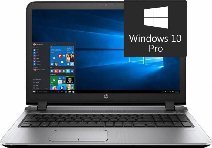 imagine 0 Laptop HP ProBook 450 G3 Intel Core Skylake i3-6100U 500GB 4GB Win10 Pro Fingerprint w4p55ea
