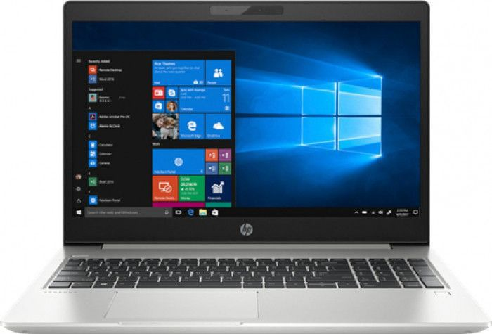 imagine 0 Laptop HP ProBook 450 G6 Intel Core (8th Gen) i7-8565U 256GB SSD 8GB Win10 Pro FullHD Argintiu Tastatura ilum. FPR Silver 6bn82ea