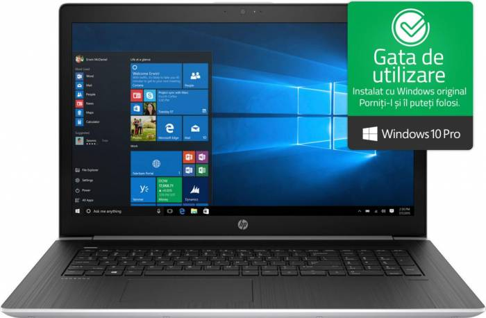 imagine 0 Laptop HP ProBook 470 G5 Intel Core Kaby Lake R (8th Gen) i5-8250U 1TB HDD 8GB nVidia GeForce 930MX 2GB Win10 Pro FullHD FPR Silver 2rr89ea