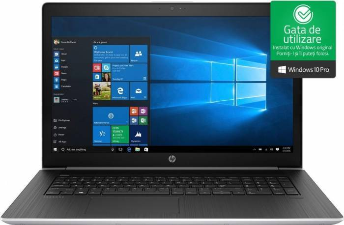 imagine 0 Laptop HP ProBook 470 G5 Intel Core Kaby Lake R (8th Gen) i5-8250U 256GB SSD 8GB nVidia 930MX 2GB Win10 Pro FullHD 2rr73ea