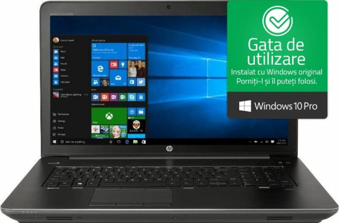 imagine 0 Laptop HP Zbook 17 G4 Intel Core Kaby Lake i7-7700HQ 256GB 8GB nVidia M2200 4GB Win10 Pro FullHD Fingerprint y6k23ea