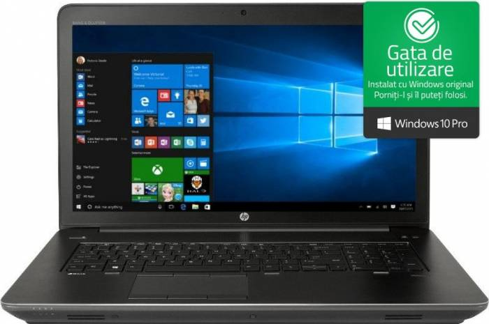 imagine 0 Laptop HP Zbook 17 G4 Intel Core Kaby Lake i7-7820HQ 1TB HDD+256GB SSD 16GB nVidia Quadro P3000 6GB Win10 Pro FullHD FPR 1rq80ea