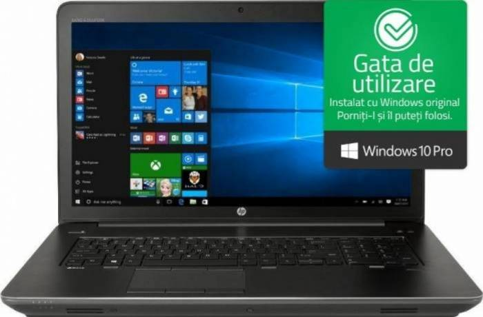imagine 0 Laptop HP Zbook 17 G4 Intel Core Kaby Lake i7-7820HQ 512GB 32GB nVidia P3000 6GB Win10 Pro FullHD Fingerprint y6k36ea