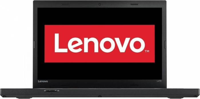 imagine 0 Laptop Lenovo ThinkPad L470 Intel Core Kaby Lake i5-7200U 1TB 8GB FullHD Fingerprint Negru 20J4003NRI