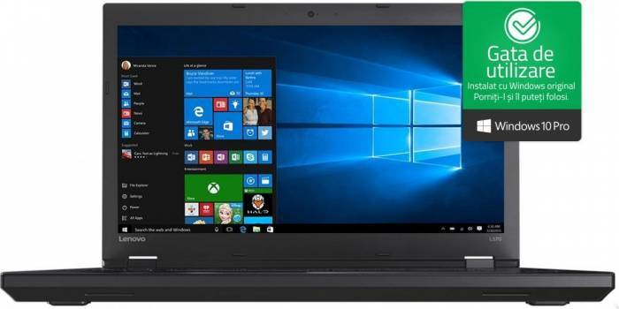 imagine 0 Laptop Lenovo ThinkPad L570 Intel Core Kaby Lake i7-7500U 256GB 8GB Win10 Pro FullHD 20J8002ARI