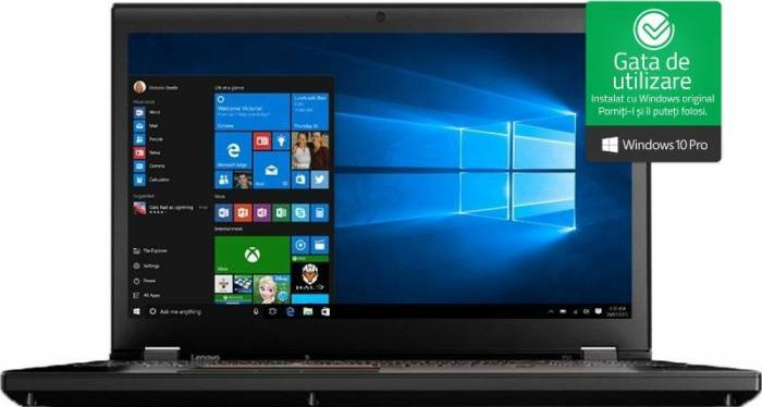 imagine 0 Laptop Lenovo ThinkPad P51 Intel Core Kaby Lake i7-7820HQ 512GB SSD 16GB nVIDIA Quadro M2200M 4GB Win10 Pro FullHD 20hh0015ri