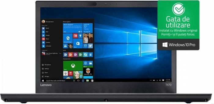 imagine 0 Laptop Lenovo ThinkPad T470p Intel Core Kaby Lake i7-7820HQ 512GB 16GB nVidia GeForce 940MX 2GB Win10 Pro WQHD FPR 4G 20j6003gri