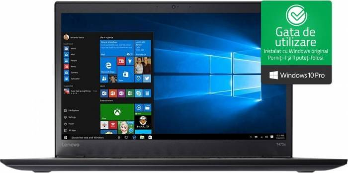 imagine 0 Laptop Lenovo ThinkPad T470s Intel Core Kaby Lake i5-7200U 512GB 8GB Win10 Pro FullHD Fingerprint lnv20hf0003ri