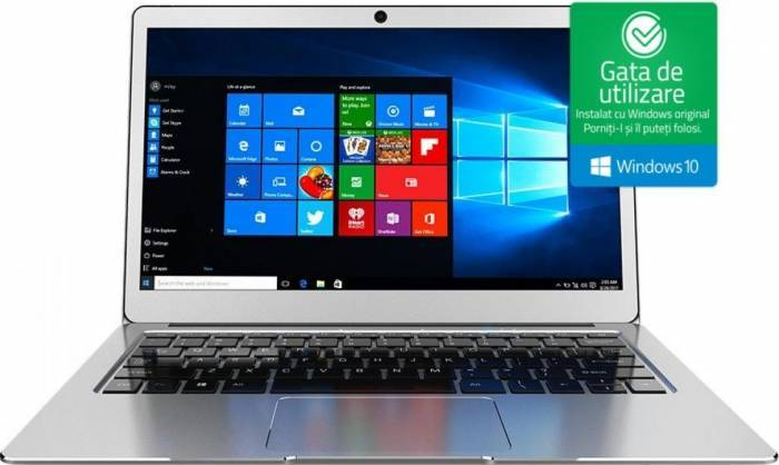 imagine 0 Laptop Njoy Aerial Intel Celeron Apollo Lake N3350 32GB 4GB Win10 FullHD Silver syno-3fl49wa-cc01b