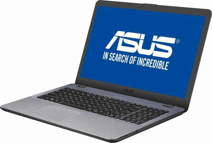 imagine 1 Laptop Asus VivoBook X542UA Intel Core Kaby Lake R (8th Gen) i7-8550U 256GB SSD 8GB Endless DVD-RW FHD Gri x542ua-dm525