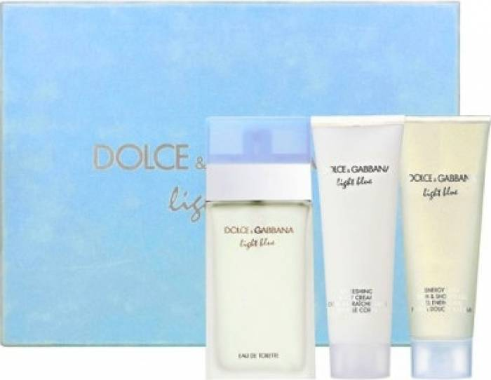 imagine 0 Apa de Toaleta Light Blue 100ml + Shower Gel 100ml + Body Lotion 100ml by Dolce and Gabbana Femei 100ml+100ml+100ml pf_117934