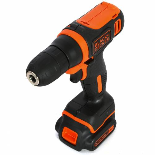 imagine 0 Masina de insurubat si gaurit 10.8V Li-ion Black+Decker BDCD12 bdcd12-qw
