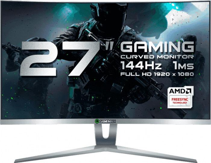 imagine 0 Monitor Gaming Curbat LED 27 Gamemax GMX27C144 Full HD 1ms 144Hz Alb mtgmgmx27w