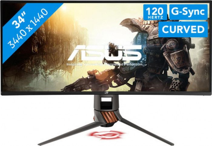 imagine 0 Monitor Curbat Gaming LED Asus ROG Swift PG349Q UW-QHD 4ms 120Hz G-sync Boxe pg349q