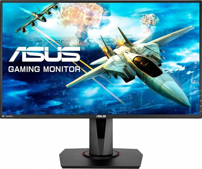 imagine 0 Monitor Gaming 27 LED 27 Asus VG278QR Full HD 1ms 165Hz G-SYNC Compatible, Boxe vg278qr