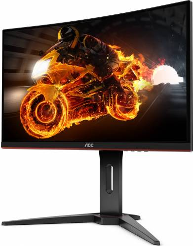 imagine 2 Monitor Gaming Curbat LED 27 AOC C27G1 Full HD 1ms 144Hz FreeSync c27g1