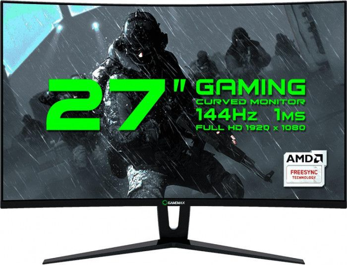 imagine 0 Monitor Gaming Curbat LED 27 Gamemax GMX27C144 Full HD 1ms 144Hz Negru mtgmgmx27b
