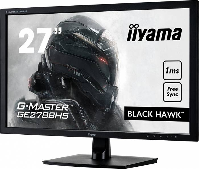 imagine 4 Monitor Gaming LED 27 Iiyama G-Master Black Hawk GE2788HS Full HD 1ms FreeSync ge2788hs-b2