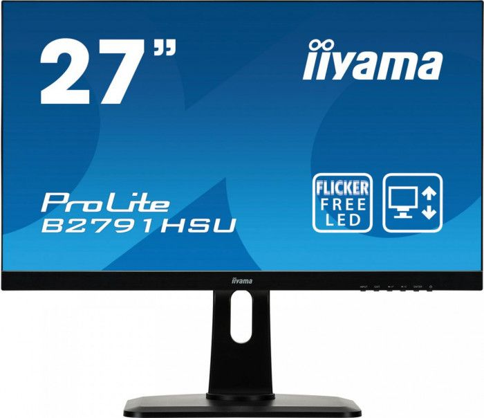 imagine 0 Monitor Iiyama ProLite B2791HSU-B1 TN LED 27 1ms FreeSync Boxe FullHD Matte Black b2791hsu-b1