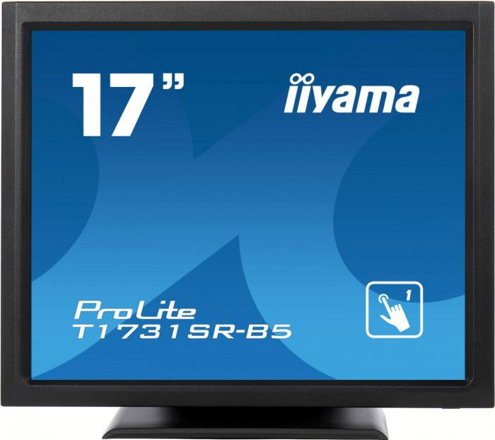 imagine 0 Monitor Iiyama ProLite T1731SR-B5 17inch TN LED 1280 x 1024 5ms Touch Matte Black t1731sr-b5
