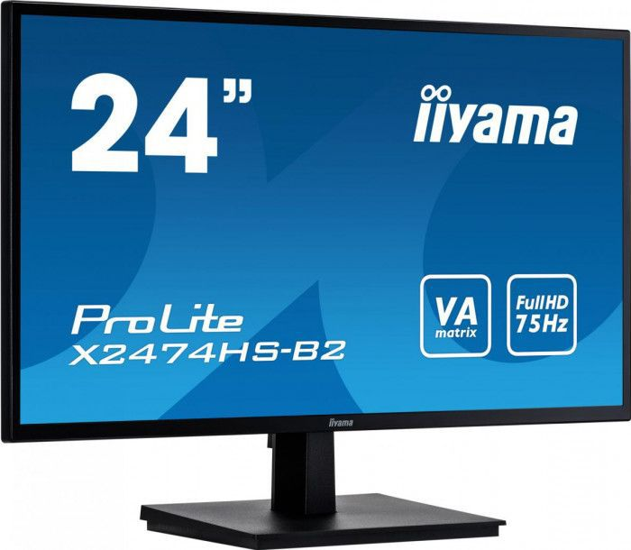 imagine 0 Monitor Iiyama ProLite X2474HS-B2 23.6inch VA LED FullHD 4ms Matte Black x2474hs-b2