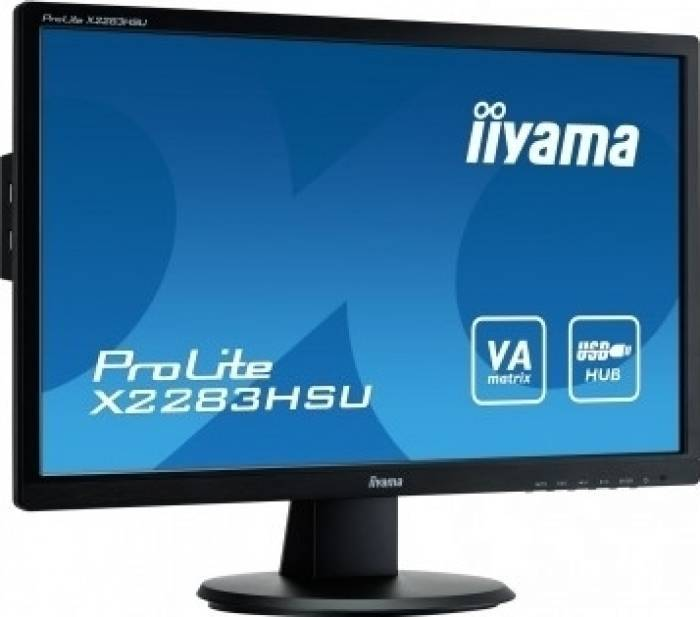 imagine 0 Monitor LED 21.5 Iiyama X2283HSU-B1DP Full HD 5 ms Negru x2283hsu-b1dp