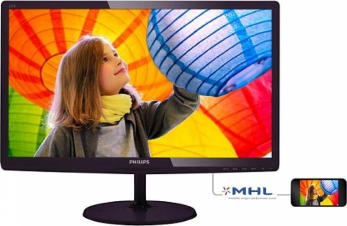 imagine 0 Monitor LED 21.5 Philips 227E6LDSD/00 Full HD 1 ms Negru 227e6ldsd/00