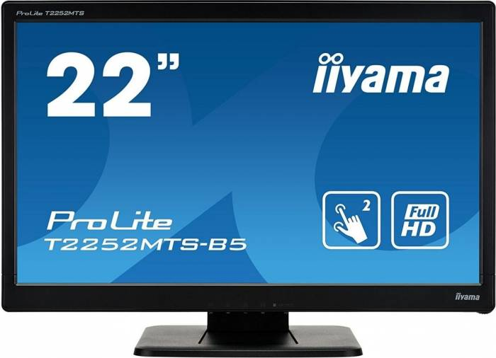 imagine 0 Monitor LED 21.5 Touchscreen Iiyama ProLite T2252MTS-b5 Full HD 2ms t2252mts-b5