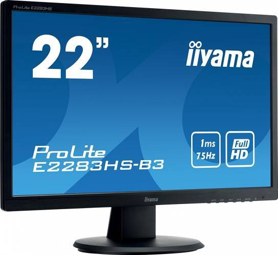imagine 2 Monitor LED 22 Iiyama ProLite E2283HS-B3 Full HD 1ms e2283hs-b3