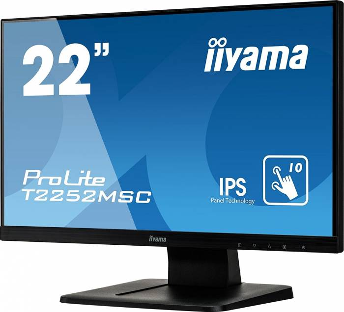imagine 1 Monitor LED 22 Touchscreen Iiyama ProLite T2252MSC-B1 Full HD IPS 7ms t2252msc-b1