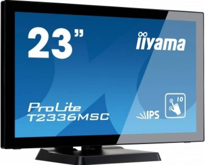 imagine 1 Monitor LED 23 Iiyama T2336MSC-B2 Full HD IPS 5ms t2336msc-b2