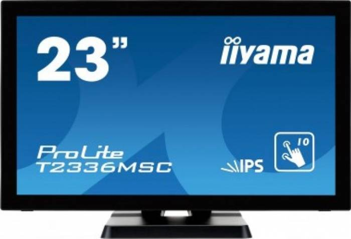 imagine 0 Monitor LED 23 Iiyama T2336MSC-B2 Full HD IPS 5ms t2336msc-b2