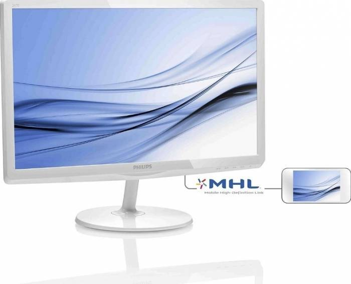 imagine 1 Monitor LED 23.6 Philips -line 247E6EDAW FulHD White 247e6edaw/00