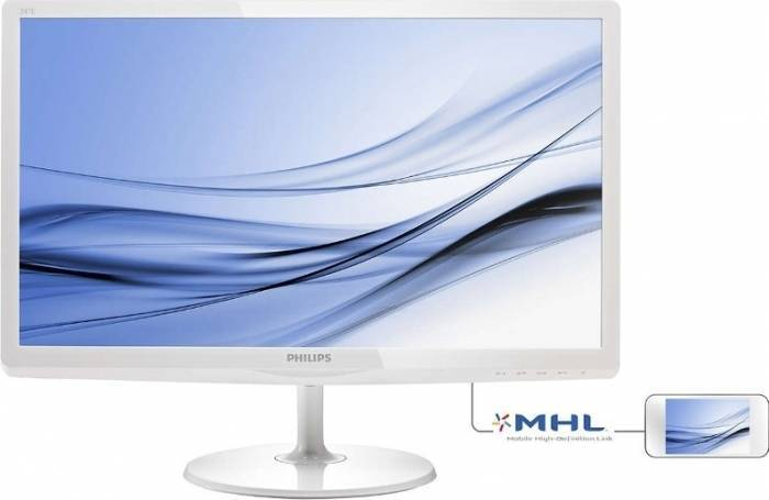 imagine 0 Monitor LED 23.6 Philips -line 247E6EDAW FulHD White 247e6edaw/00