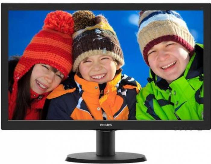 imagine 0 Monitor LED 23.6 Philips 243V5LHAB5/00 1ms Full HD 243v5lhab5/00