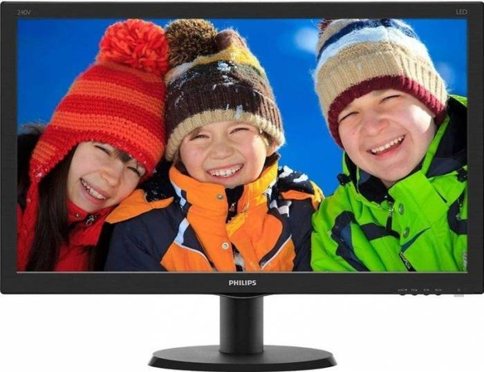 imagine 0 Monitor LED 23.8 Philips 240V5QDSB/00 Full HD IPS Negru 240v5qdsb/00